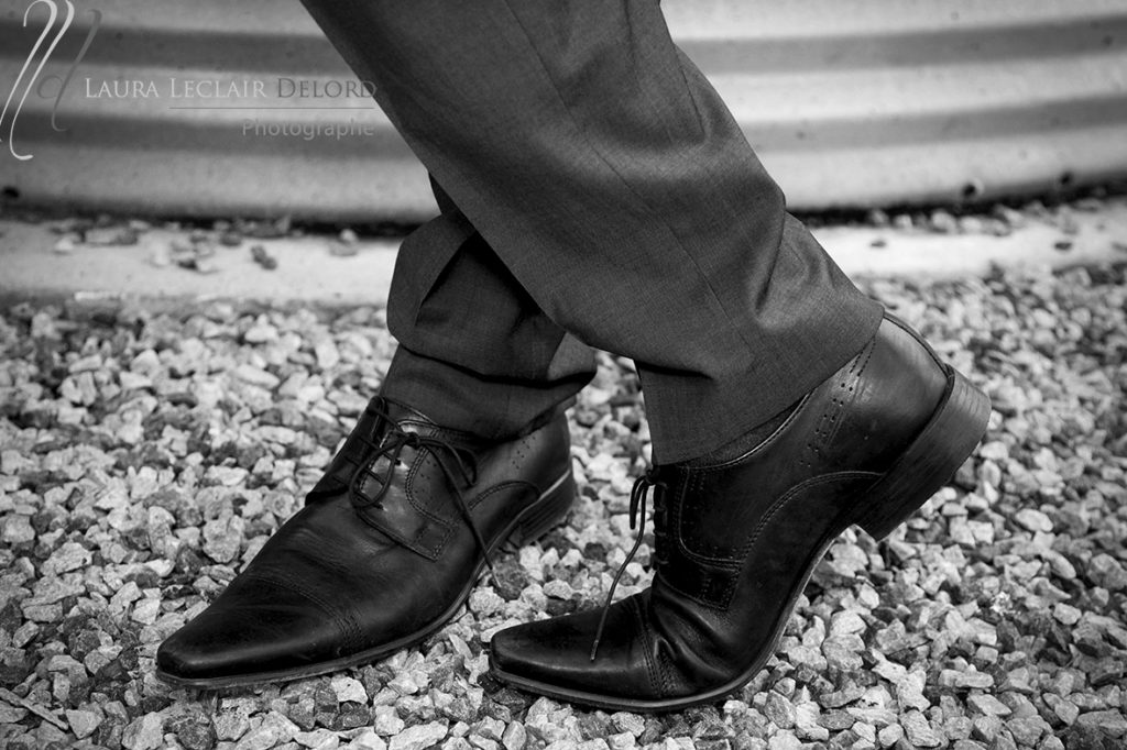 Laura Leclair chaussure du marié