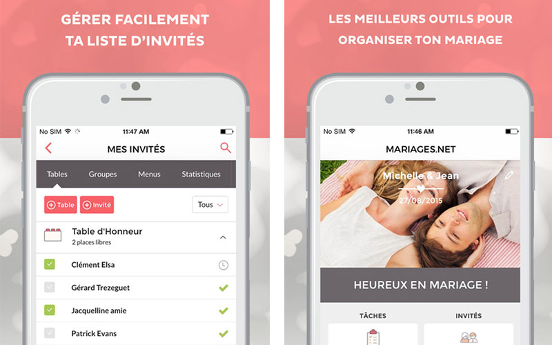 application mariages.net
