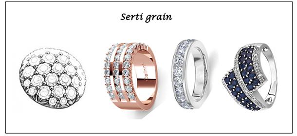 bijoux serti grain