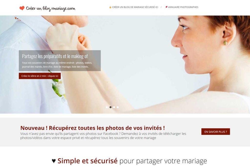 créer blog mariage